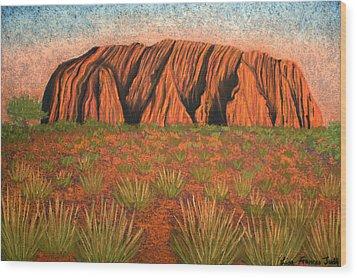 Heart Of Australia Wood Print by Lisa Frances Judd
