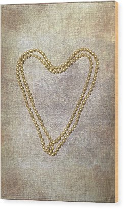 Heart Of Pearls Wood Print by Joana Kruse
