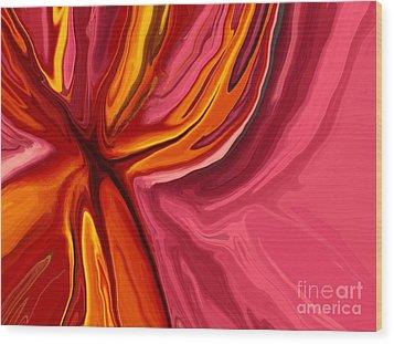 Heartache Wood Print by Chris Butler