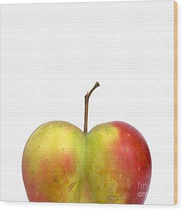 Heart.apple. Wood Print by Bernard Jaubert