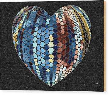 Heartline 4 Wood Print by Will Borden