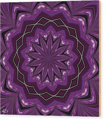 Wood Print featuring the digital art Heather And Lace by Alec Drake
