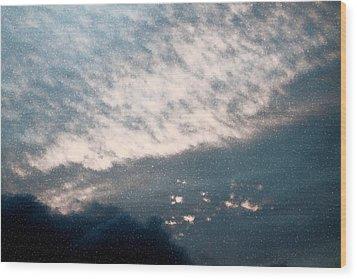 Heaven Left A Light On Wood Print by Elizabeth  Doran