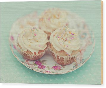 Heavenly Cupcakes Wood Print by Karin A photography