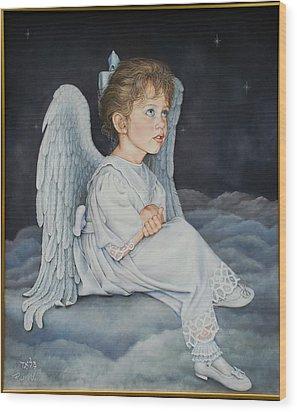 Heavenly Messanger -mahalahk Wood Print by Ruth Gee