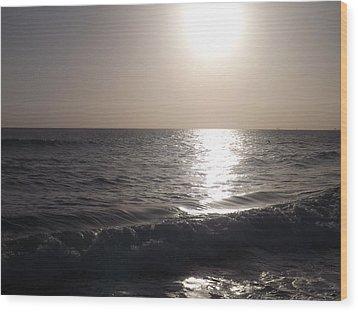 Heavenly Sunset Wood Print by Jamie Diamond