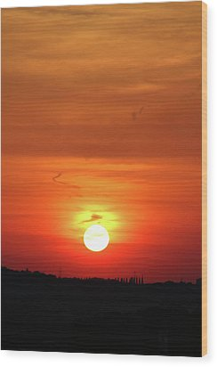 Heavenly Sunset Wood Print by Mariola Bitner