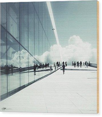 Heavenly Walk In Oslo 2 Wood Print by Marianne Hope