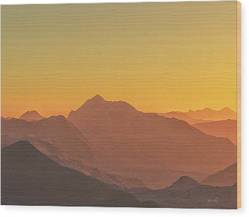 Heavens Breath 11 Wood Print by The Art of Marsha Charlebois