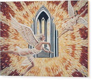 Heavens Gate Wood Print by Kurt Jacobson