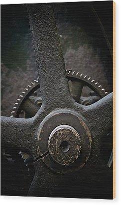 Heavy Equipment Wood Print by Odd Jeppesen
