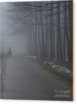 Heavy Foggy Day Wood Print