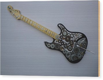 Heavy Metal Guitar Wood Print