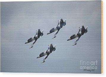 Heavy Metal Jet Team Wood Print by Susan Stevens Crosby