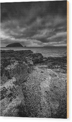 Heavy Sky In Monochrome Wood Print by Andy Astbury