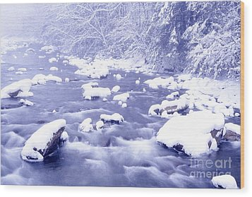 Heavy Snow Cranberry River Wood Print by Thomas R Fletcher