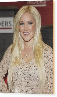Heidi Montag At In-store Appearance Wood Print by Everett