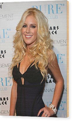 Heidi Montag In Attendance For Pures Wood Print by Everett