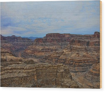 Helicopter View Of The Grand Canyon Wood Print by Douglas Barnard