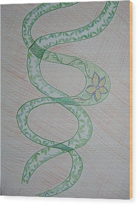 Wood Print featuring the painting Helix  by Sonali Gangane