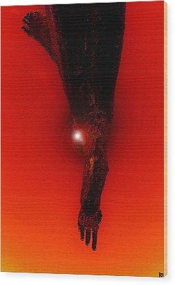 Hell Fall Wood Print by David Lee Thompson