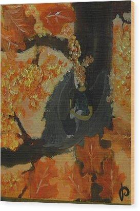 Helle's Fear Wood Print by Mahalaleel Muhammed-Clinton