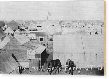 Hells Half Acre, Perry, Oklahoma Wood Print by Everett