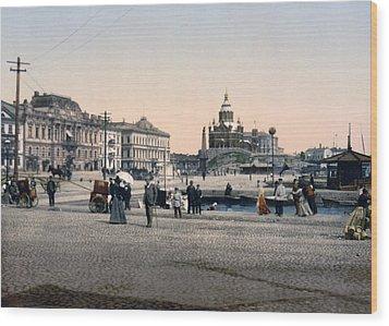 Helsinki Finland - Senate Square Wood Print by Bode Stevenson