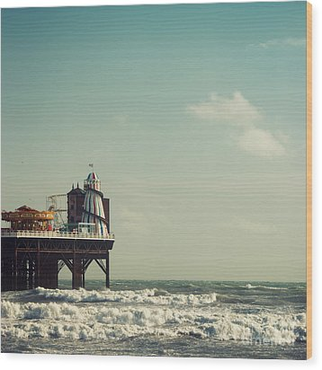 Helter-skelter On Brighton Pier  Wood Print by Paul Grand