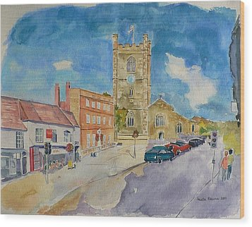 Wood Print featuring the painting Henley On Thames by Geeta Biswas