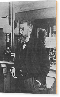 Henri Poincare, French Polymath Wood Print by Science Source