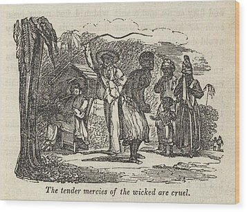 Henry Bibbs Wife Whipped By The Black Wood Print by Everett