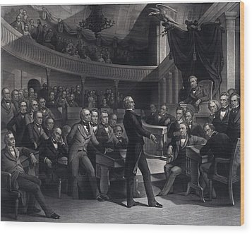 Henry Clay 1777-1852 Addressing Wood Print by Everett
