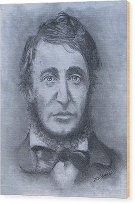 Henry David Thoreau Wood Print by Jack Skinner