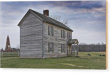 Henry House At Manassas Battlefield - Virginia Wood Print by Brendan Reals