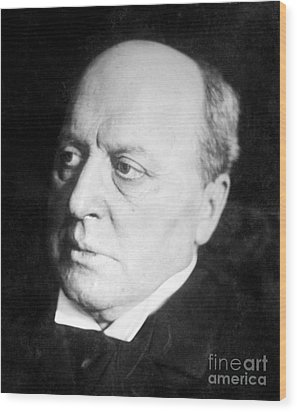 Henry James, American-born British Wood Print by Photo Researchers