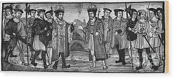 Henry Viii & Francis I Wood Print by Granger