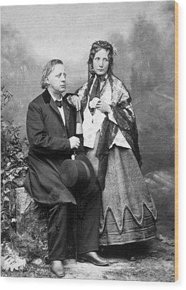 Henry Ward Beecher 1813-1887, Harriet Wood Print by Everett