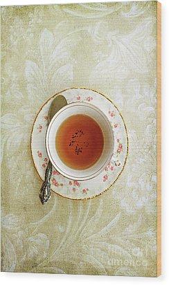 Herbal Tea Wood Print by Stephanie Frey