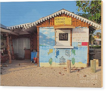 Heritage Kitchen Grand Cayman Wood Print by James Brooker