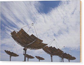 Hermansburg Solar Energy Receiver Array Wood Print by Stephen Alvarez