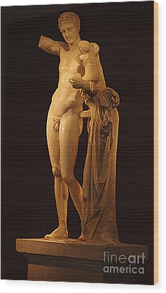 Hermes And The Infant Wood Print by Bob Christopher