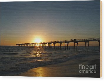 Hermosa Beach Sunset Wood Print by Nina Prommer