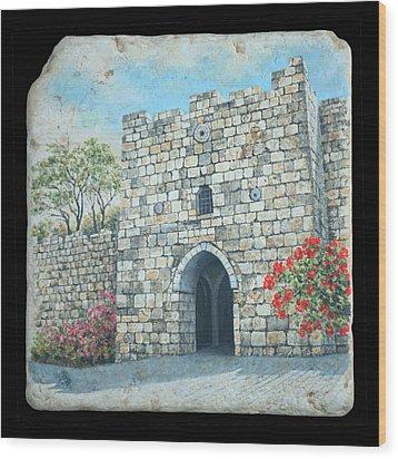 Herod's Gate Wood Print