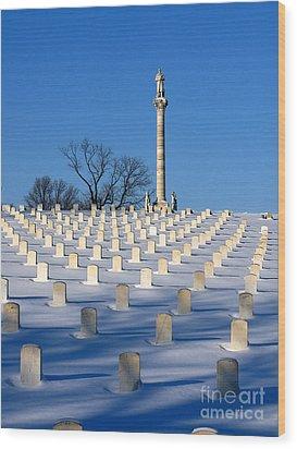 Heroes Peaceful Rest Wood Print by David Bearden