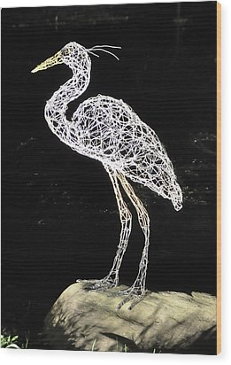 Heron Wood Print by Tommy  Urbans
