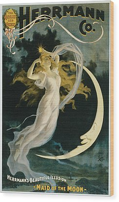Herrmann Maid Of The Moon Wood Print by Unknown