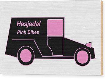 Hesjedal Pink Bikes - Virtual Car Wood Print by Asbjorn Lonvig