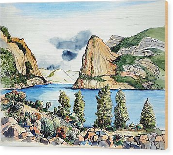 Wood Print featuring the painting Hetch Hetchy by Terry Banderas