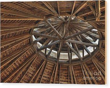 Hexadecagonal Wood Print by Fred Lassmann